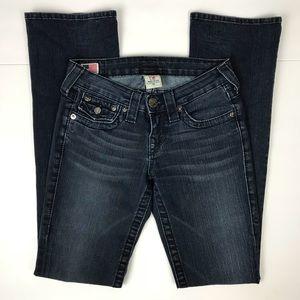 True Religion 24 Dark Wash Becky Boot  Cut Jeans